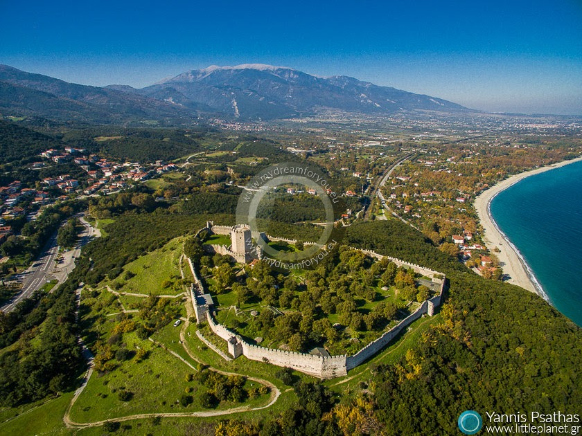 Castle of Platamon, Greece Aerial Hotel Photography - Drone Services Greece