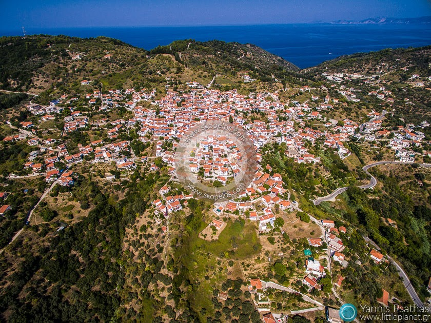 Glossa Village, Skopelos Aerial Photography Greece - Aerial Photographer