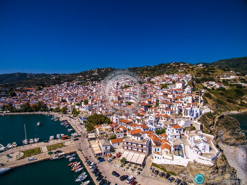 Skopelos Port Aerial Photography Greece - Drone Services Greece
