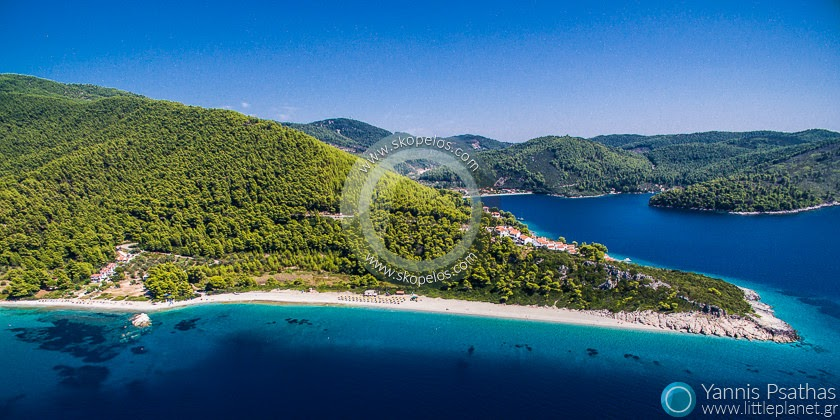 Milia Beach, Skopelos Aerial Photographer - Aerial Photography Greece