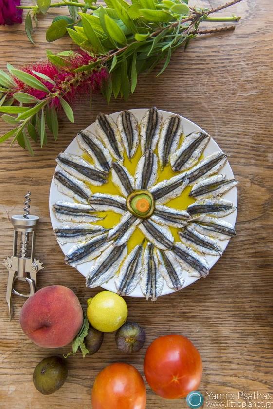 Φωτογραφία Φαγητού για διαφημιστικό κατάλογο φαγητού  - Sardine al aceite