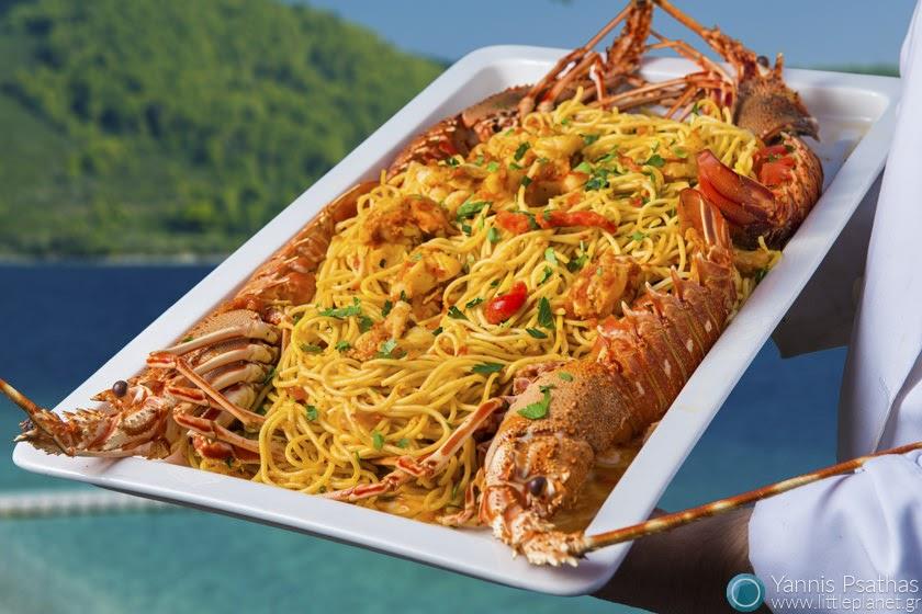 Φωτογράφηση Καταλόγου Εστιατορίων για το ξενοδοχείο Adrina Resort - Αστακομακαρονάδα