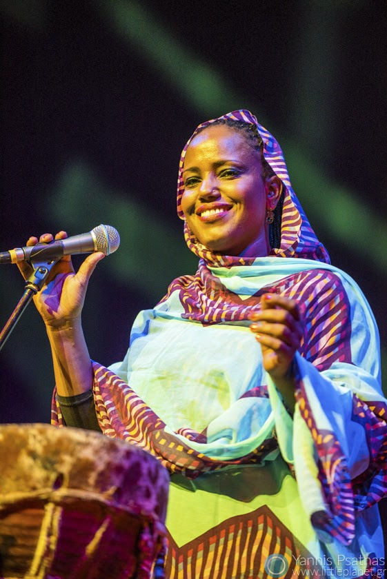 Aziza Brahim performing live in Womex Festival