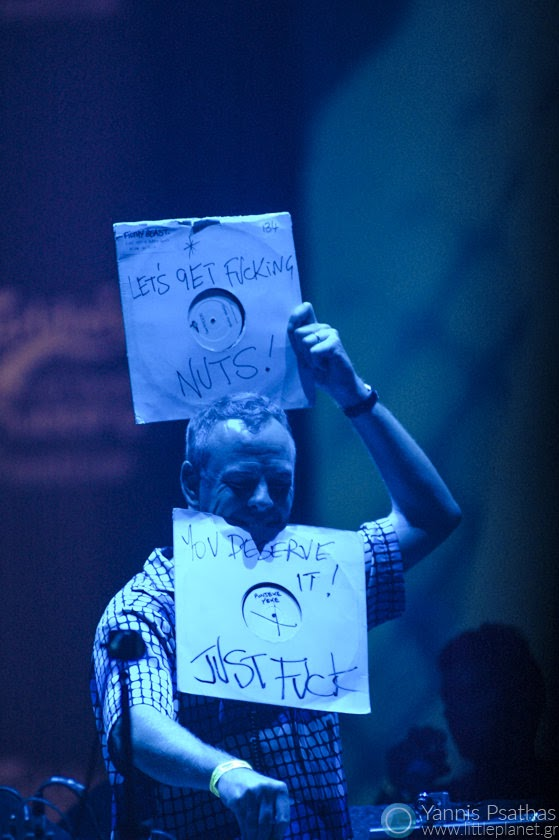 Fatboy Slim in live concert. Photo for the Rolling Stone Magazine