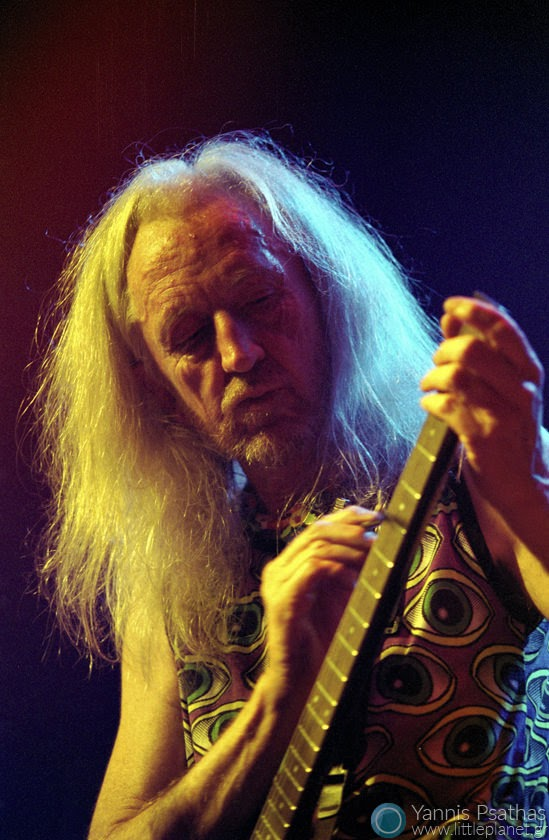 Daevid Allen of the Gong Band performing live in Mylos. Thessaloniki, Greece