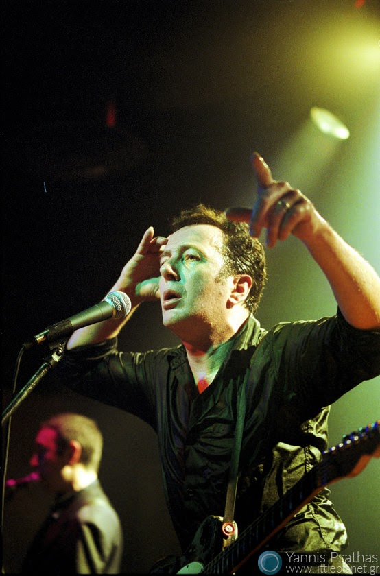 Joe Strummer and the Mescaleros performing live in Ydrogeios Club Thessaloniki