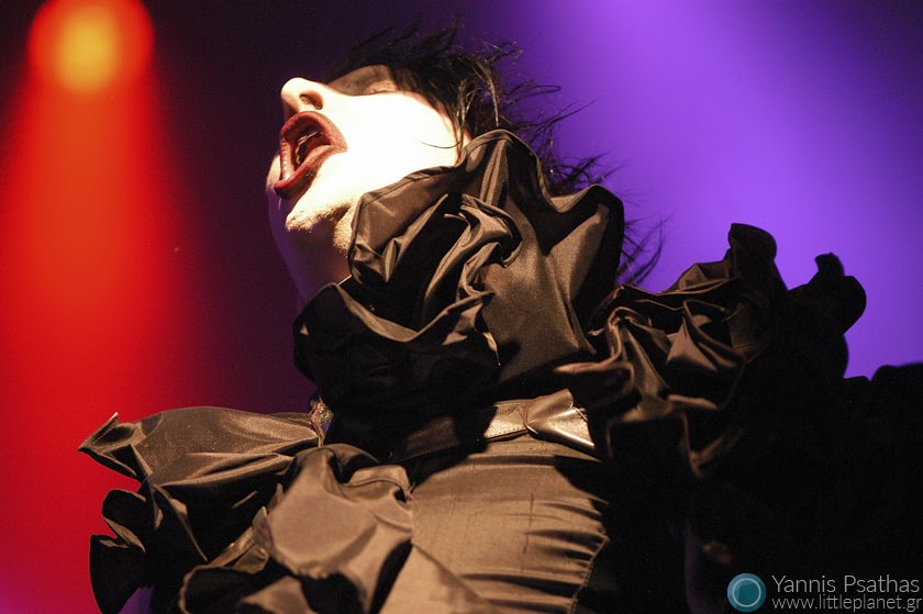 Mairilyn Manson during concert in Viñarock Festival Spain. Coverage for the Rolling Stone Magazine