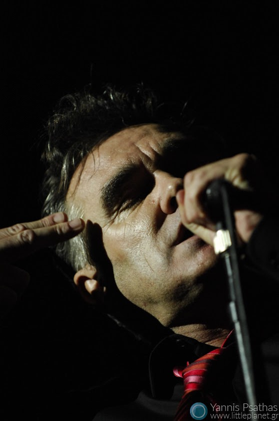 Morrisey performing live at Principal Club Theater Thessaloniki