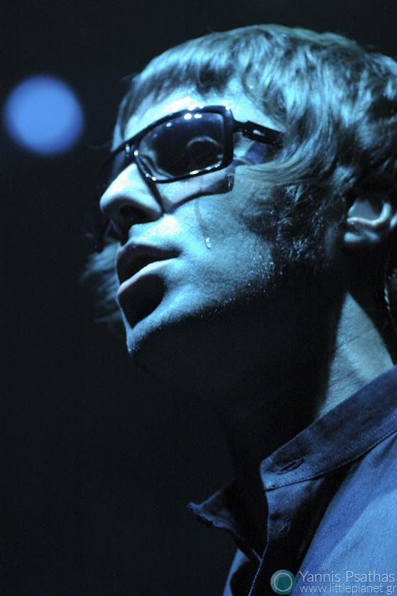 Liam Galagher of Oasis, live in Madrid Spain. Coverage for the Rolling Stone Magazine