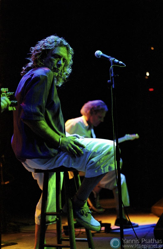 Robert Plant performing in Mylos, Thessaloniki