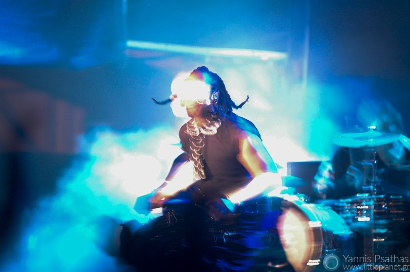 Maxim of The Prodigy live in Spain. Photo for the Rolling Stone Magazine, Music Photography