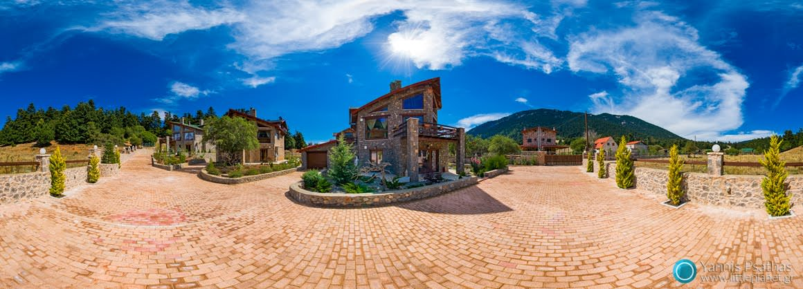 Chalet in Greece, Parnassos - Virtual Tours, Panorama 360 °, Panoramic 360 ° Shooting