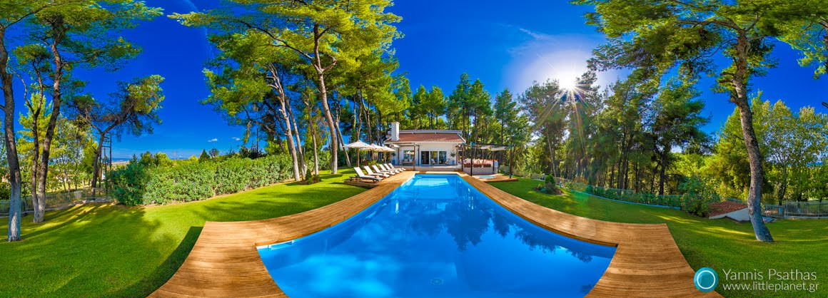 The White Villa at Sani - Panorama 360 °, Virtual Tours