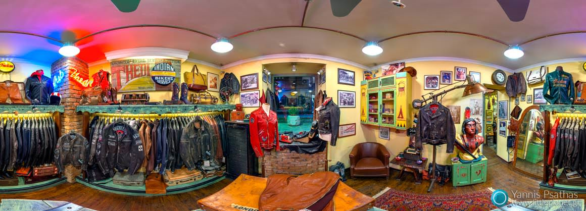 Thedi Leathers Store Thessaloniki - Panorama 360 °, Virtual Tours