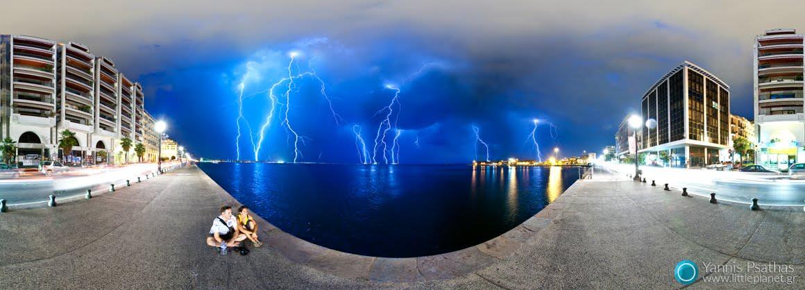 Καταιγίδα στη Θεσσαλονίκη - Gigapixel, Virtual tours 360º