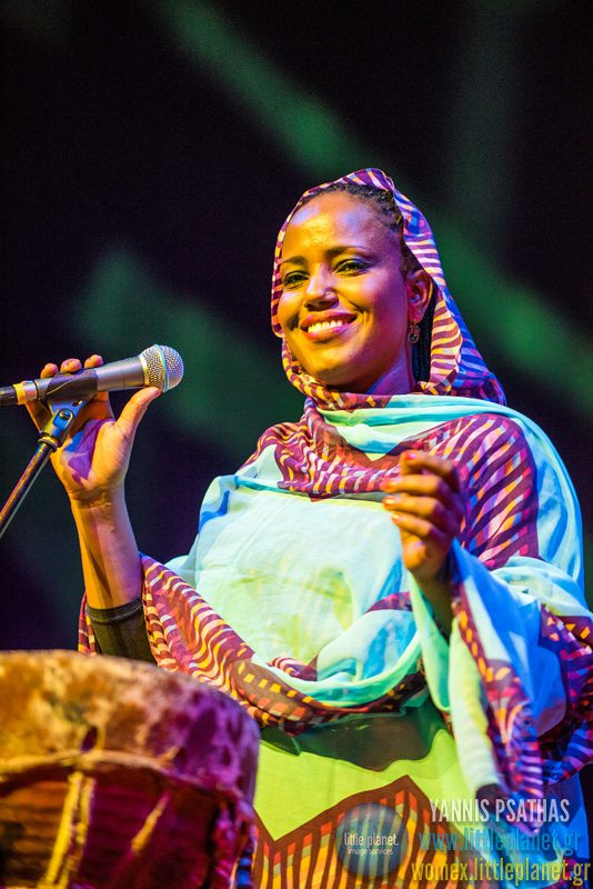 Aziza Brahim live concert at WOMEX Festival 2015 in Budapest © Yannis Psathas Music Photographer