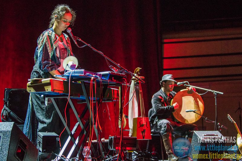 Karolina Cicha Bart Palyga live concert at WOMEX Festival 2015 in Budapest © Yannis Psathas Music Photographer