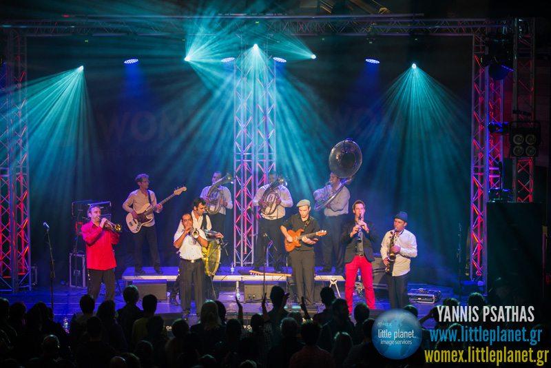 Gipsy Burek Orkestar live concert at WOMEX Festival 2013 in Cardiff © Yannis Psathas Music Photographer