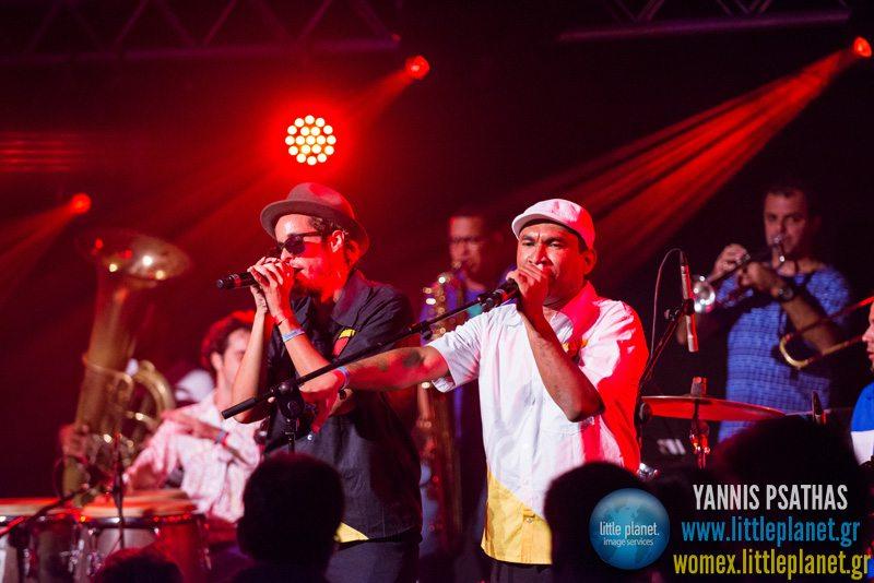 Orquestra Contemporanea de Olinda live concert at WOMEX Festival 2013 in Cardiff © Yannis Psathas Music Photographer
