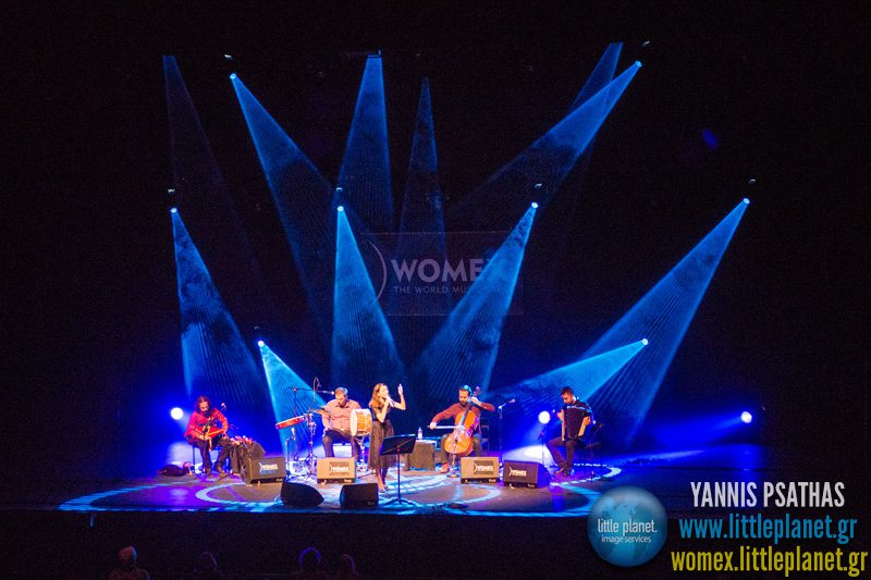 Aysenur Kolivar live concert at WOMEX Festival 2013 in Cardiff © Yannis Psathas Music Photographer