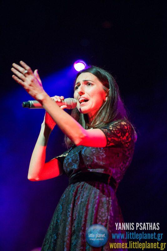 Aysenur Kolivar live concert at WOMEX Festival 2013 in Cardiff © Yannis Psathas Music Photographer