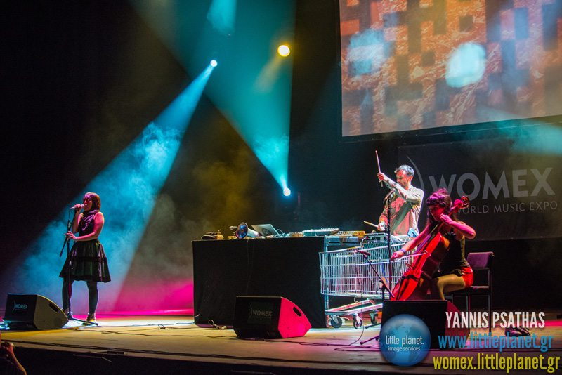 Filastine Nova live concert at WOMEX Festival 2013 in Cardiff © Yannis Psathas Music Photographer
