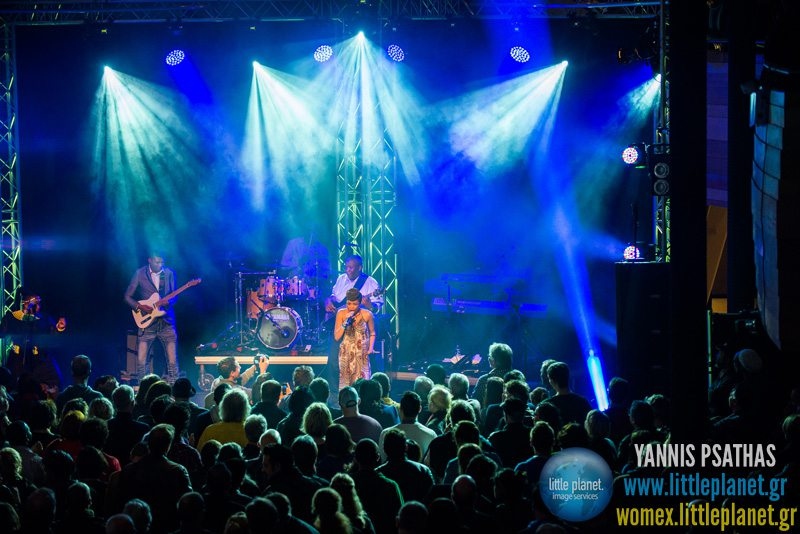 Nomfusi live concert at WOMEX Festival 2013 in Cardiff © Yannis Psathas Music Photographer