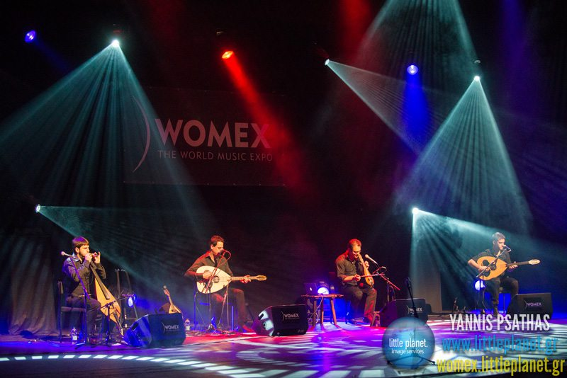 Stelios Petrakis Quartet live concert at WOMEX Festival 2013 in Cardiff © Yannis Psathas Music Photographer