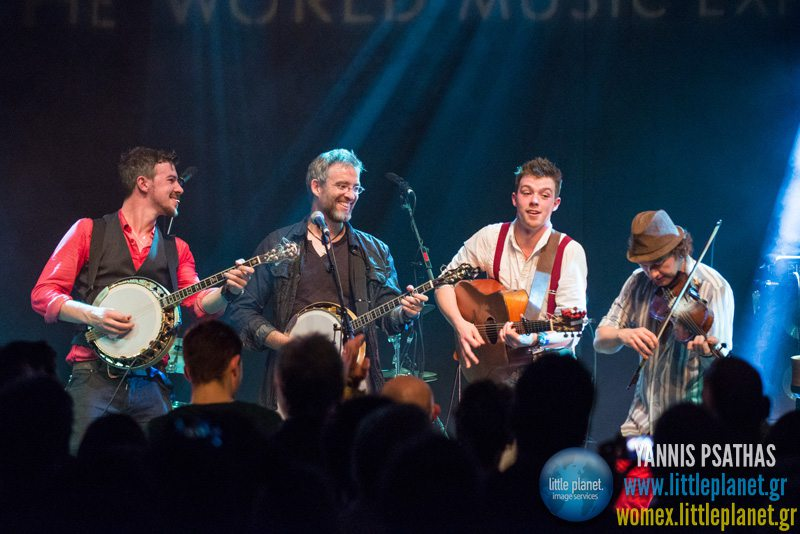 We Banjo 3 live concert at WOMEX Festival 2013 in Cardiff © Yannis Psathas Music Photographer