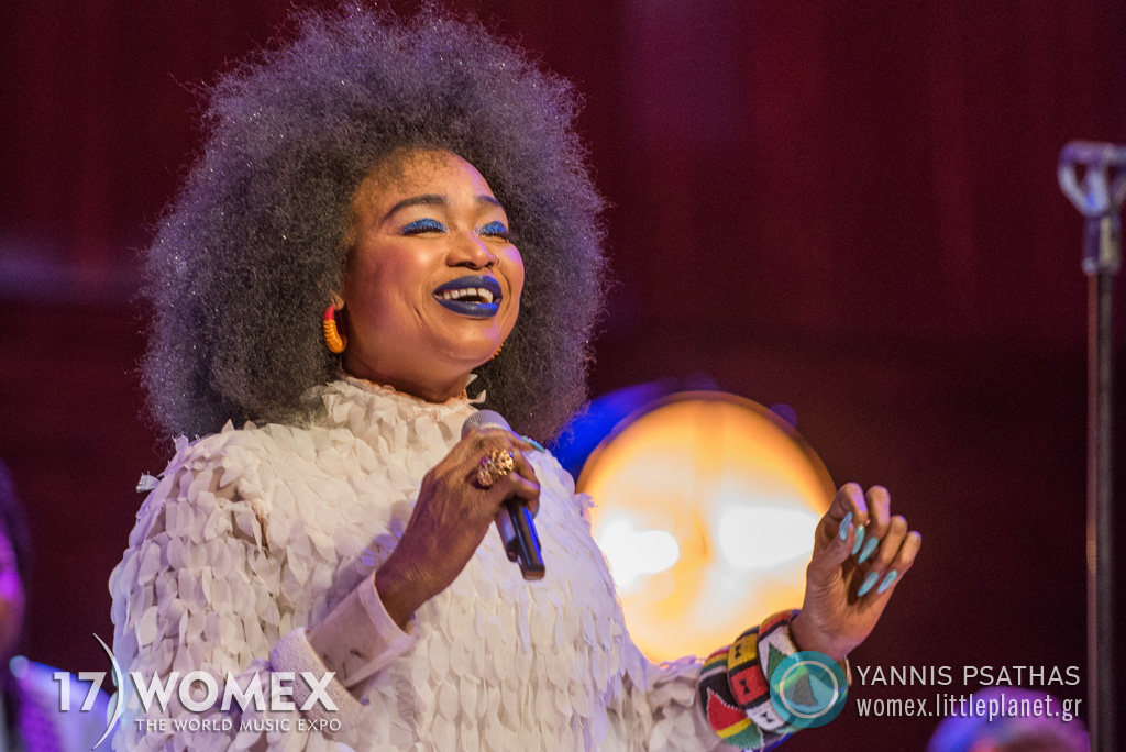 Oumou Sangaré live concert at Womex Festival Awards 2017 in Katowice © Yannis Psathas Music Photographer