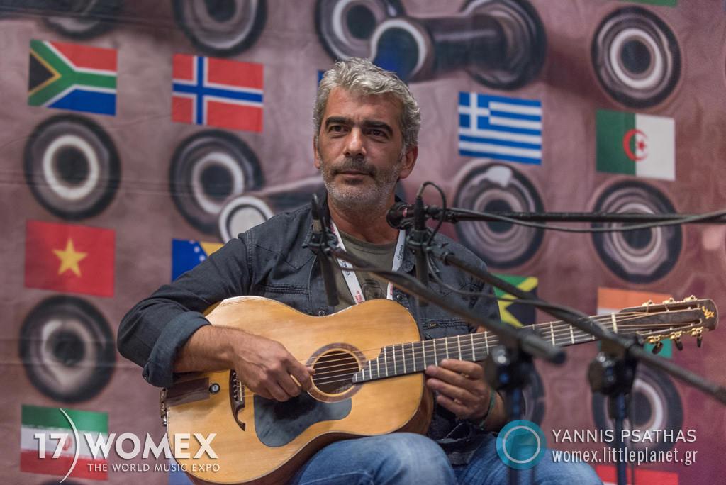 Dimitris Mistakidis Radio concert at Womex Festival 2017 in Katowice © Yannis Psathas Music Photographer