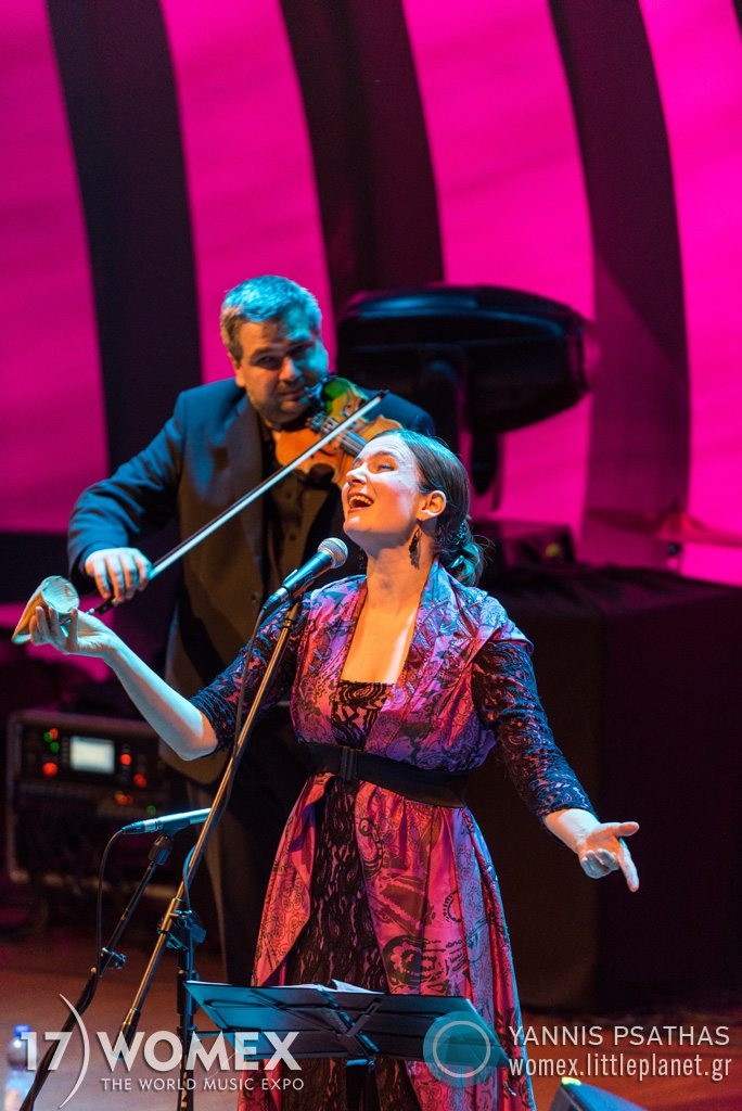 Marta Topferova Milokraj concert at Womex Festival 2017 in Katowice © Yannis Psathas Music Photographer