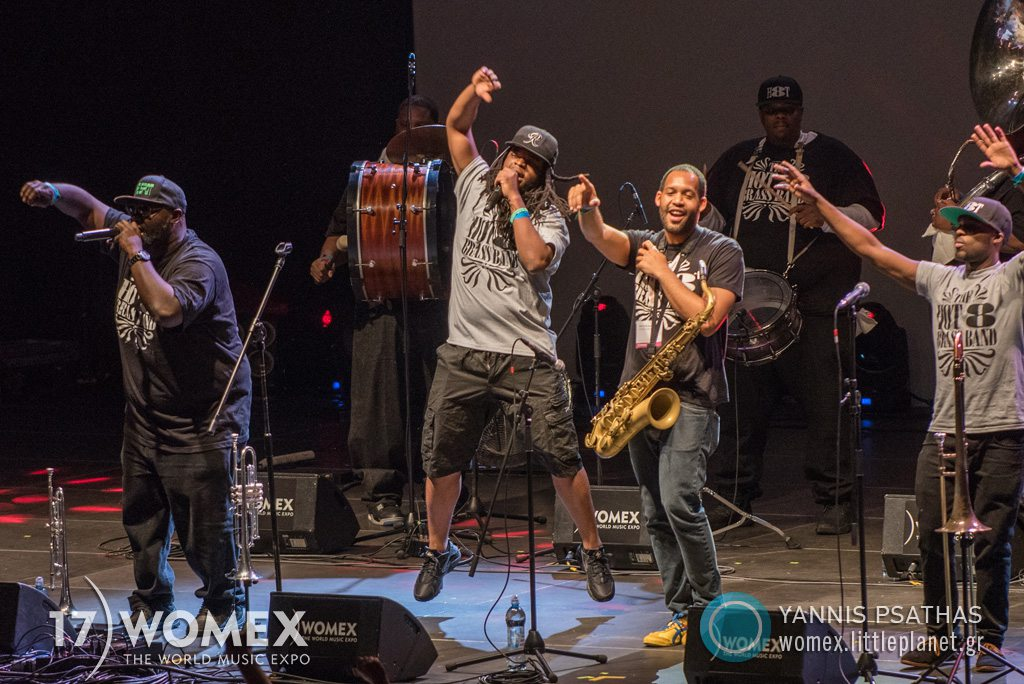Hot 8 Brass Band concert at Womex Festival 2017 in Katowice © Yannis Psathas Music Photographer