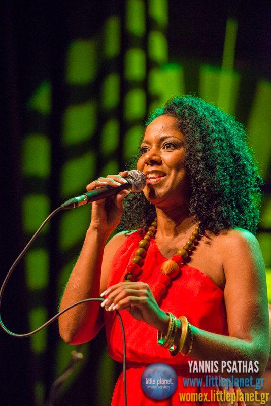 Cezaria Evora Orchestra live concert at WOMEX Festival 2014 in Santiago de Compostela © Yannis Psathas Music Photography