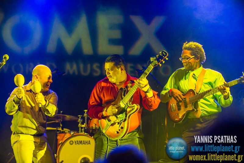 Guyao Centeno Coco Bar live concert at WOMEX Festival 2014 in Santiago de Compostela © Yannis Psathas Music Photography