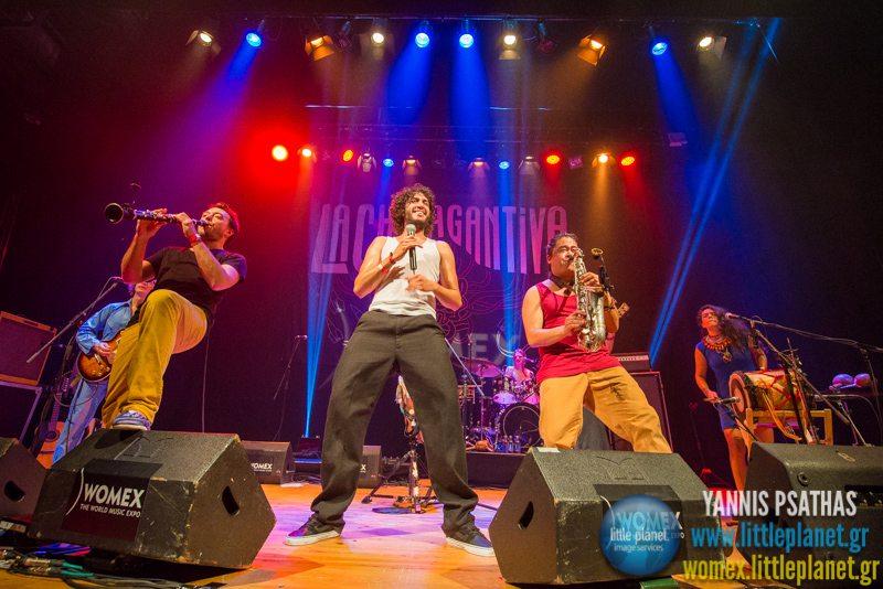 La Chiva Gantiva live concert at WOMEX Festival 2014 in Santiago de Compostela © Yannis Psathas Music Photography