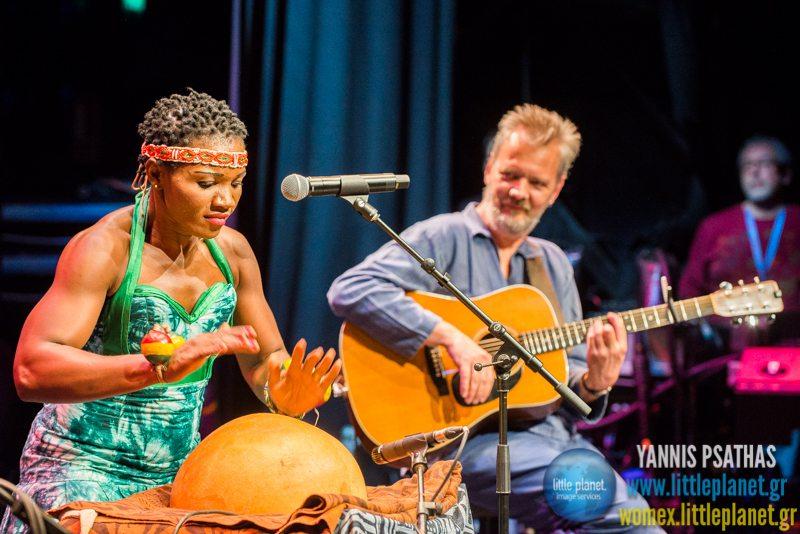 Kareyce Fotso live concert at WOMEX Festival 2014 in Santiago de Compostela © Yannis Psathas Music Photography