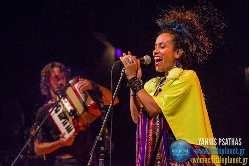 La Yegros live concert at WOMEX Festival 2014 in Santiago de Compostela © Yannis Psathas Music Photography