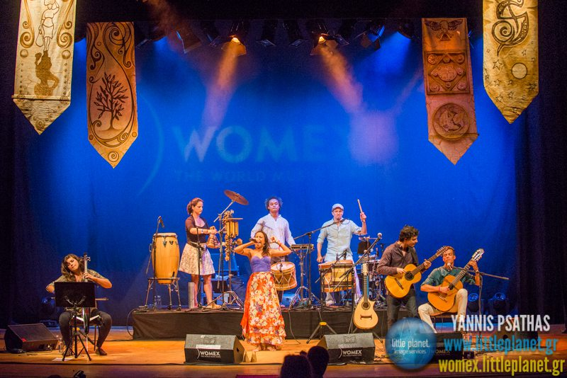 Sertanilia live concert at WOMEX Festival 2014 in Santiago de Compostela © Yannis Psathas Music Photography